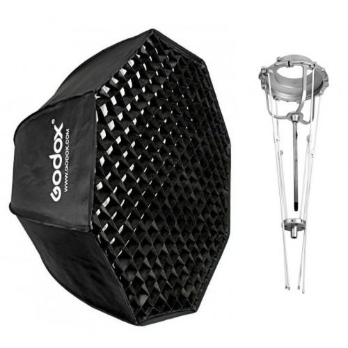 Softbox Godox Pliable 120cm Octogonale avec Grid Monture Bowens