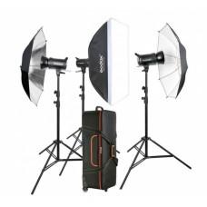 Godox QS-600 kit flash de studio 600W x 3