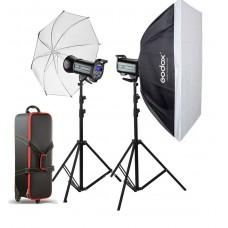 Godox QS-600II x 2 kit flash de studio