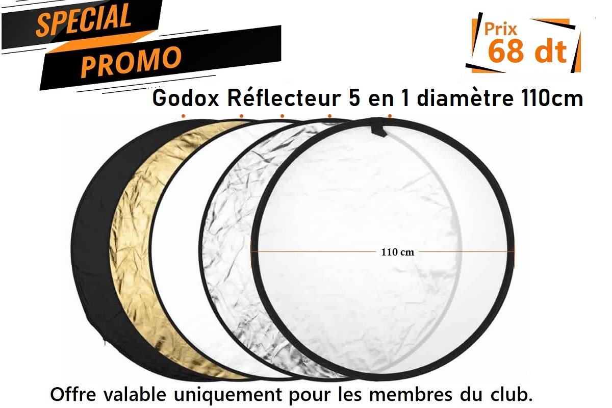 promo godox Tunisie Réflecteur 5 en 1 110cm